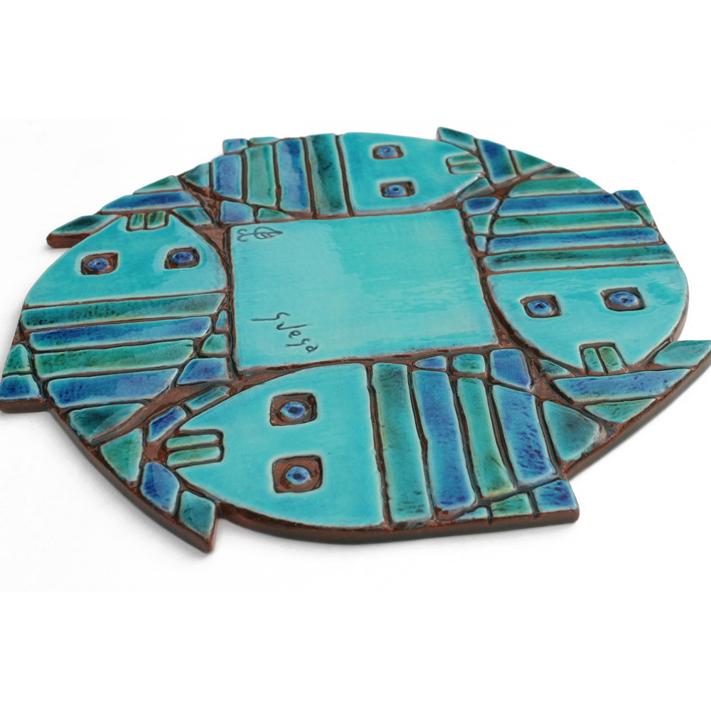 Fish wall art for kitchens, bathrooms and outdoor wall art. Our handmade tiles make a beautiful wall art for your home or garden.