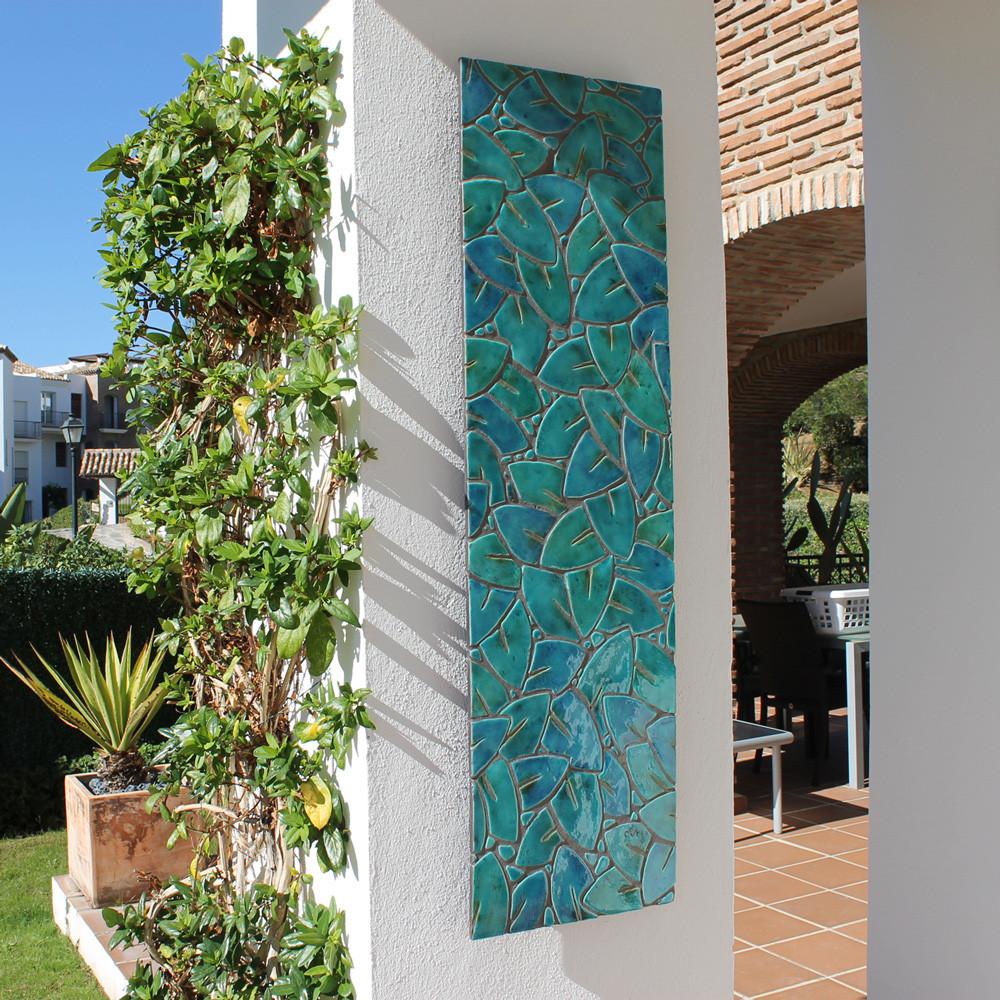 Wall Art Made From Ceramic Mosaic Art Garden Wall Art Jungle Leaves