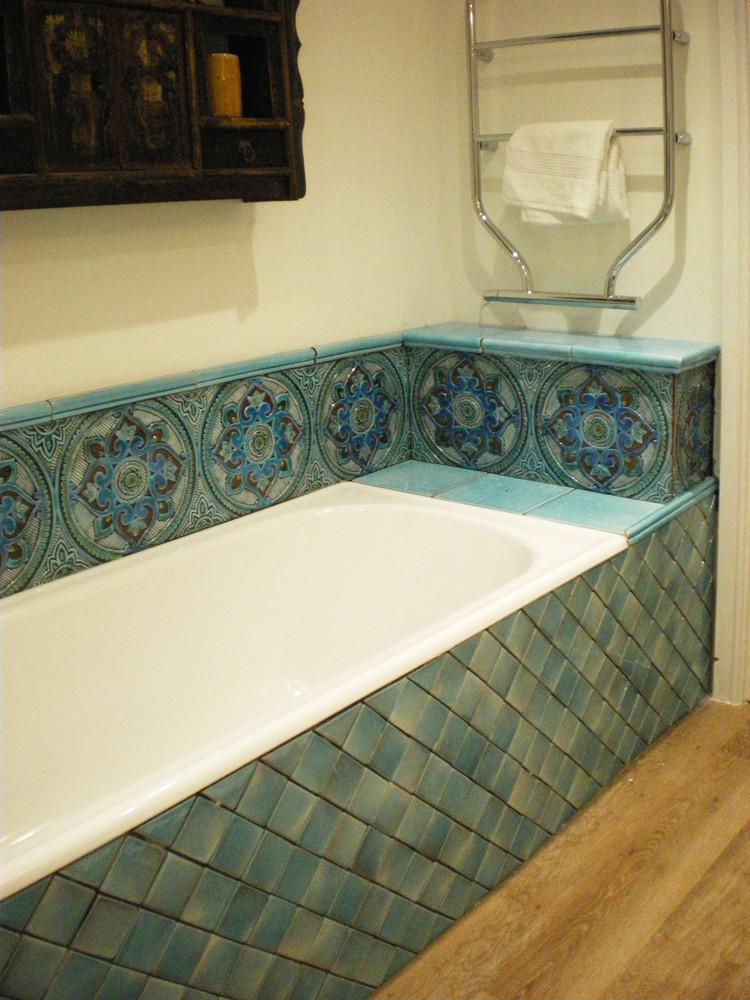 Handmade tiles bathroom Mandala #3