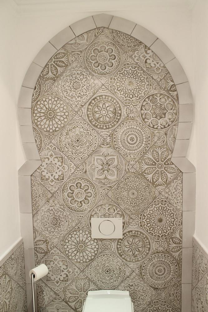 Handmade tiles bathroom Moroccan arch #1
