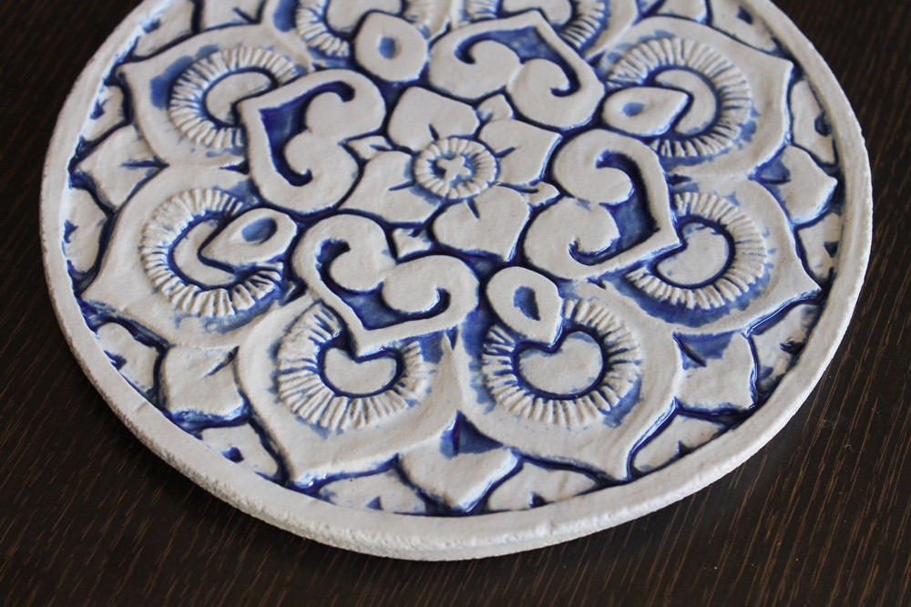 Wall decoration Mandala 21cm Blue&White - Angle