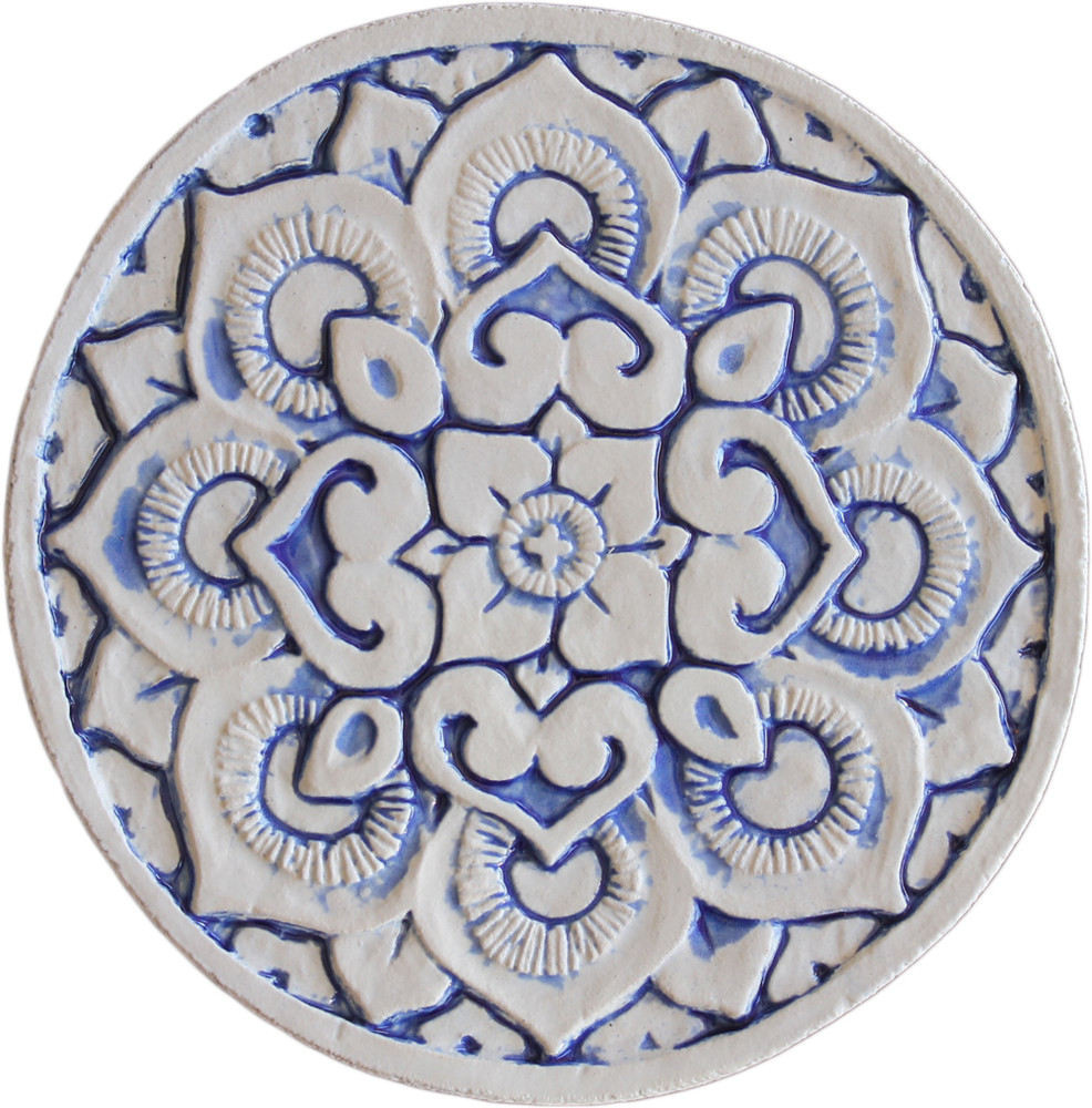 Wall decoration Circular Mandala 21cm - Blue&White