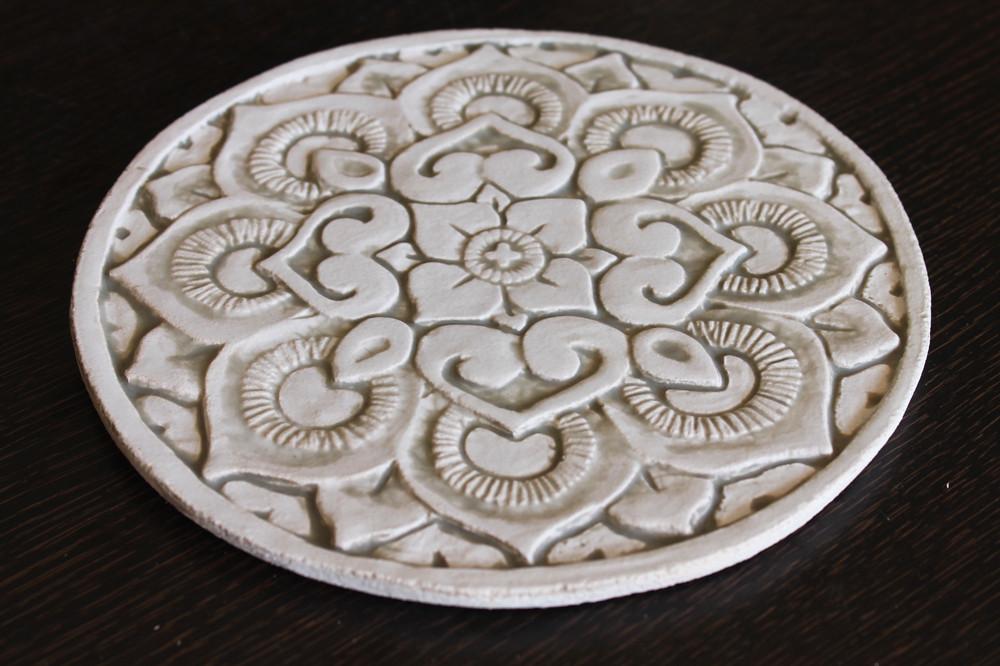 Wall decoration Mandala 21cm  - Beige - Angle