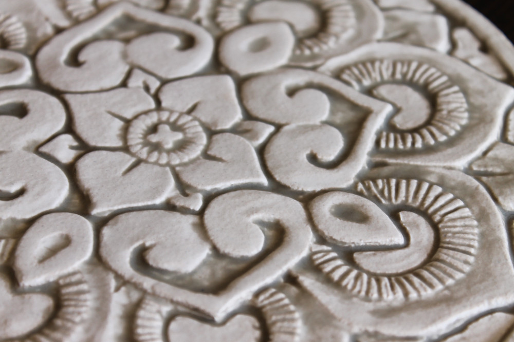 Wall decoration Mandala 21cm  - Beige - Zoom