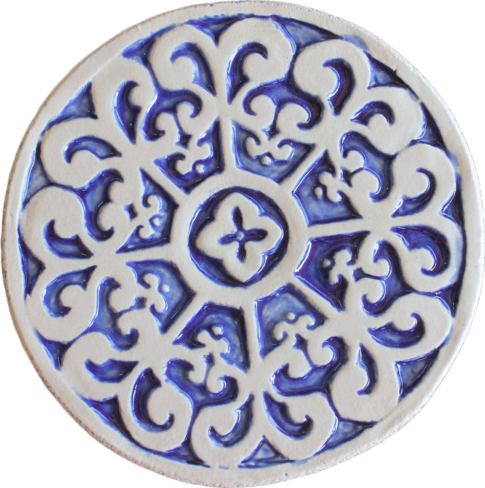 Wall decoration Mandala#2 Circular 15cm Blue&White