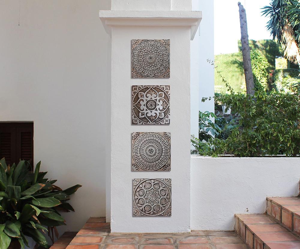Large Silver Spanish Moroccan Tile 3 Handmade Tile By Gvega