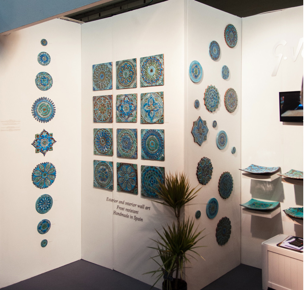 Circular Tiles Wall Art Exibition in London