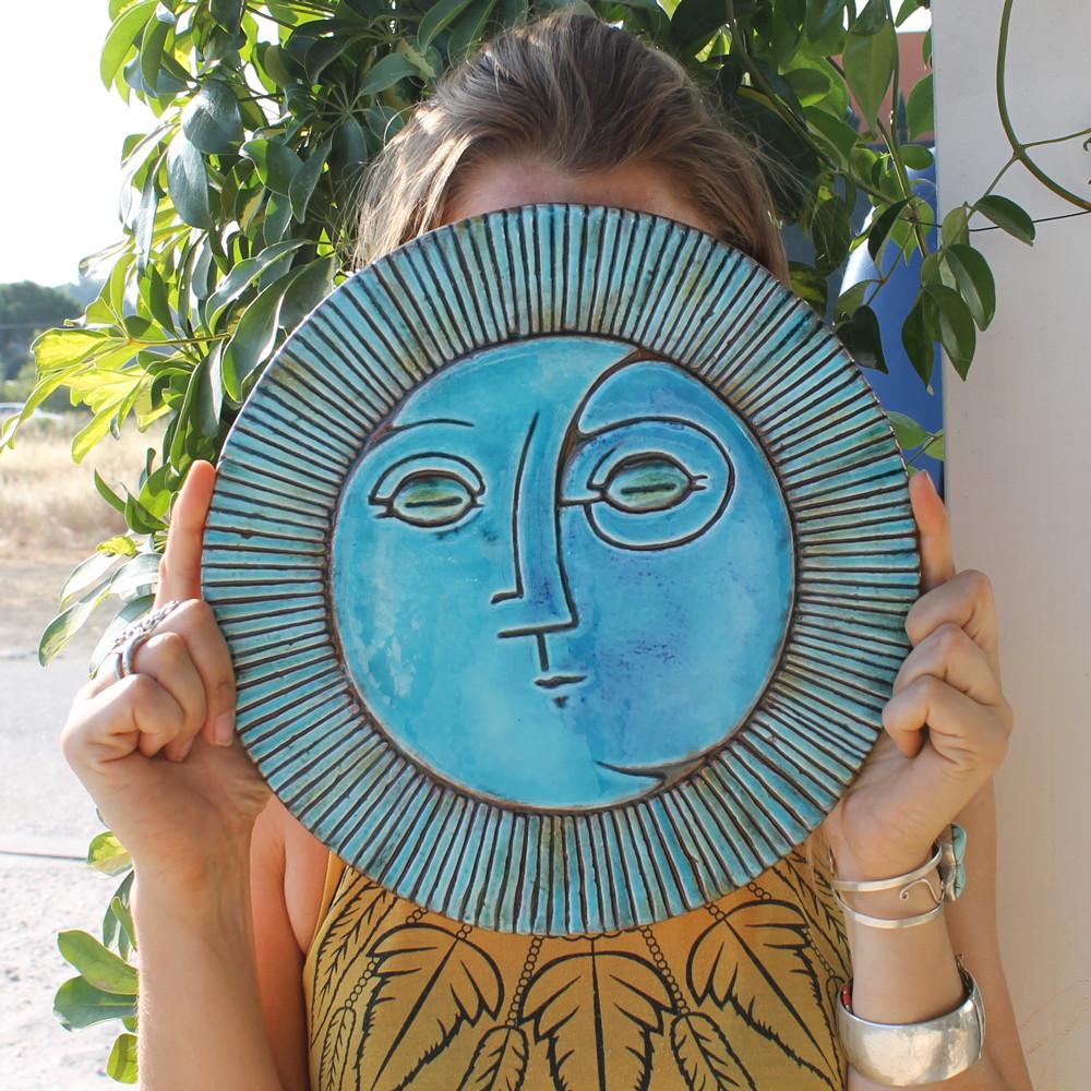 Circular Tile Sun&Moon - #4 - Large - Angle