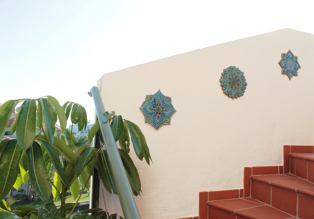 Mandalita ceramic wall art liso/R - beige  [28cm]