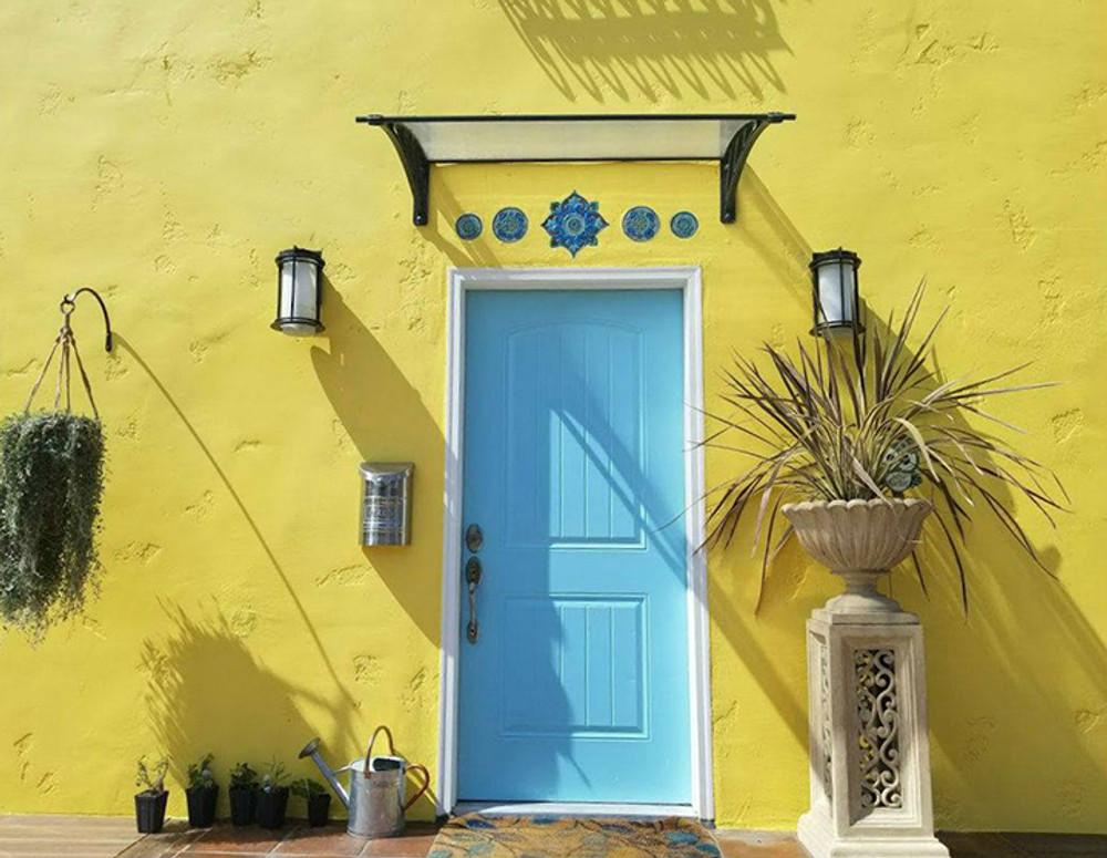 Ceramic wall art SET3 Blue circles Moroccan#4
