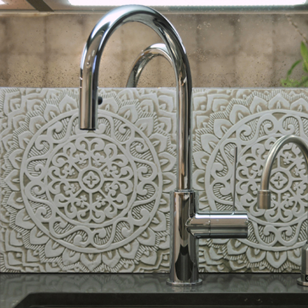 "Handmade Tiles Set8 beige [30cm/11.8""]"