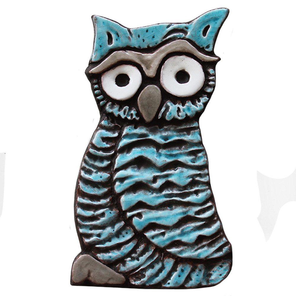 Wall Art Owlet - Large - Turquoise