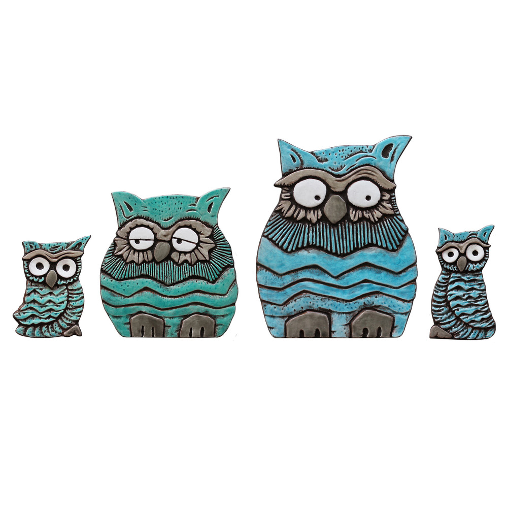 Wall Art Owl Family Set