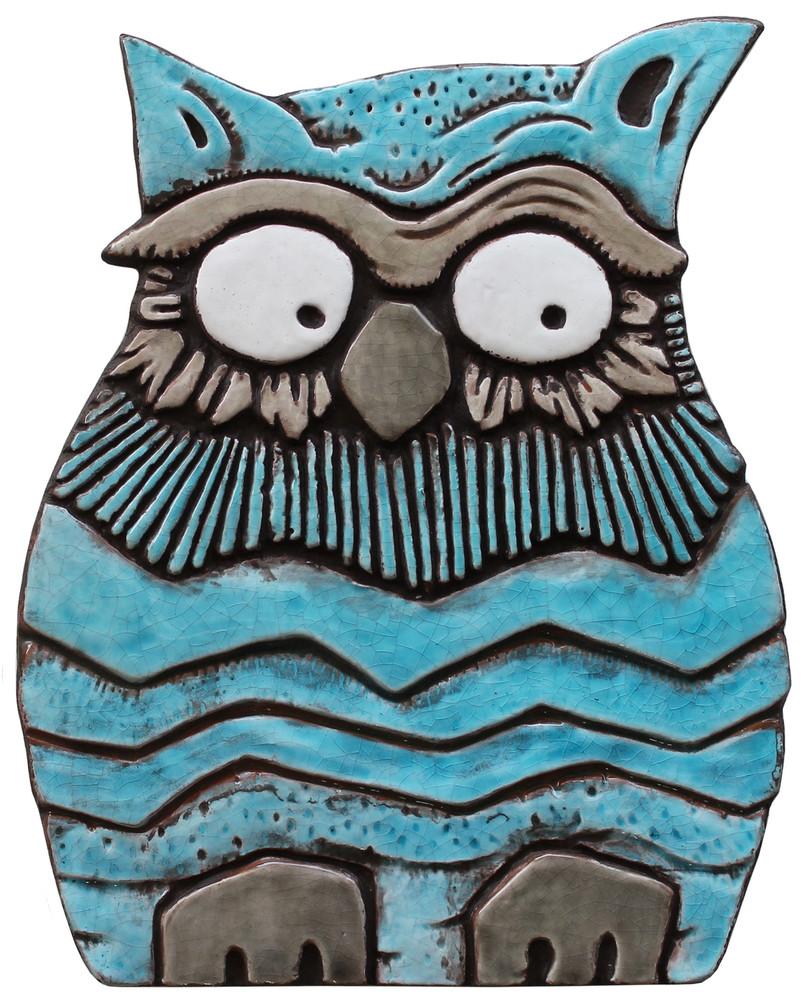 Owl Wall Art - Large - Turquoise