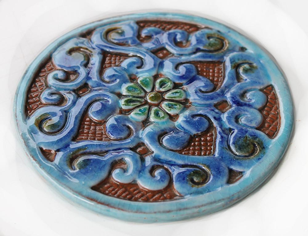 Mandala ceramic tile circular (14cm)