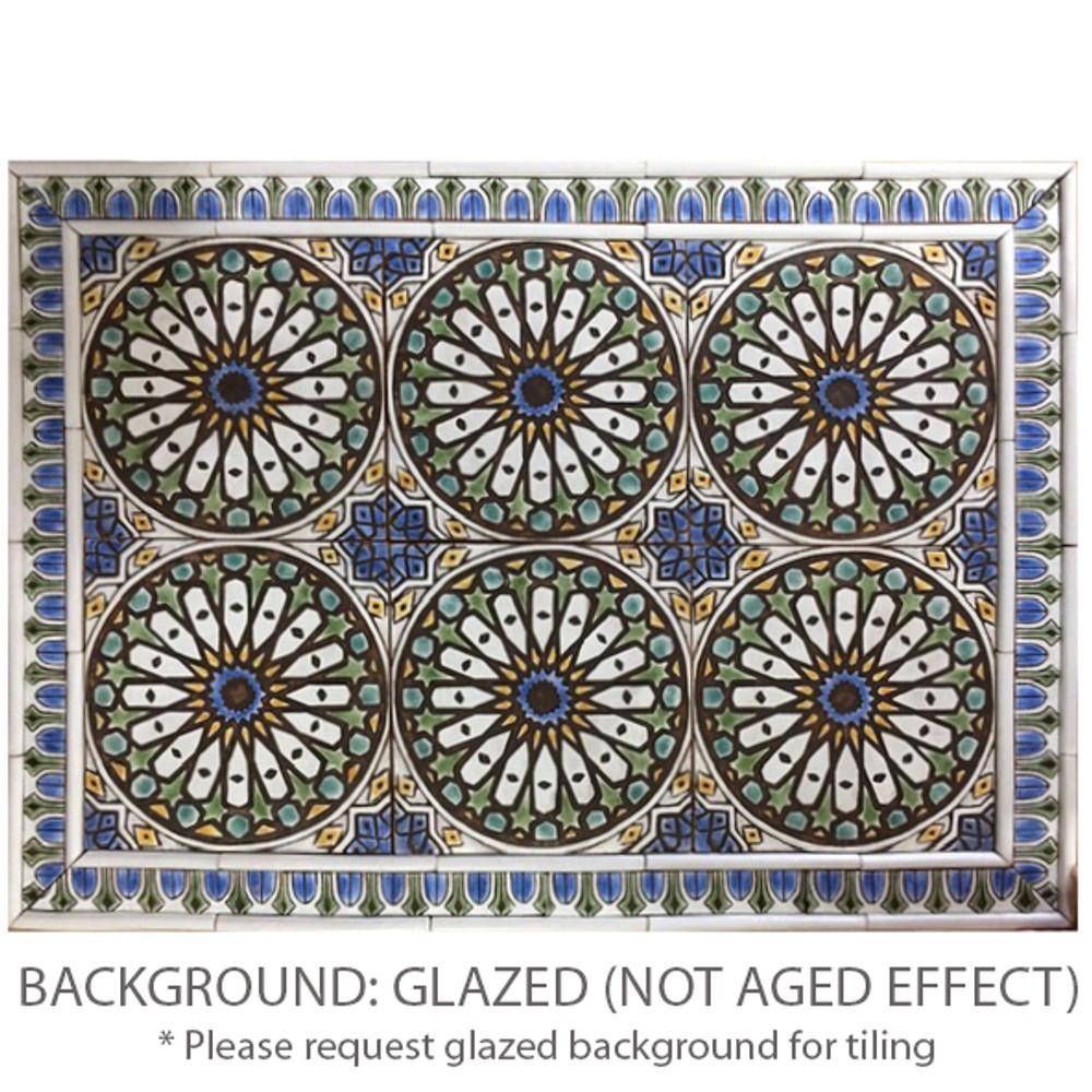 These handmade tiles make outdoor wall art.  Decorative tile handmade in Spain.