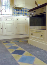 Luxury floor tiles handmade in Spain.  Our handmade tiles are custom made.  Spanish tiles for bathrooms and kitchens.