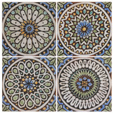 These handmade tiles make wonderful wall hangings and outdoor wall art.  These spanish tiles are handmade in Marbella, Spain and glazed in matt blue and finished in aged effect.