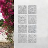 "Handmade Tiles Set8 Grey [20cm/7.8""]"