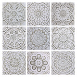 "Handmade Tiles Set9 Grey [20cm/7.8""]"