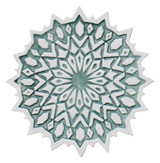 These circular handmade tiles make unique wall hangings for kitchens, bathrooms or outdoor wall art. Our aqua and white decorative tiles can also be combined with our other circular tiles to make larger wall art installations.