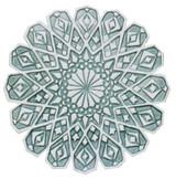 """Moroccan ceramic wall art #4/R Aqua [28cm/11""""]"""