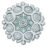 "Suzani ceramic wall art #1/R - Aqua [27.5cm/10.8""]"