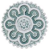 "Suzani ceramic wall art #2/R - Aqua [25cm/9.8""]"