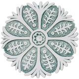 "Suzani ceramic wall art #3/R - Aqua [28.5cm/11.2""]"