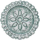 "Suzani ceramic wall art #4/R - Aqua [26cm/10.2""]"