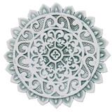 """Mandala ceramic wall art #1/R - Aqua [28cm/11""""]"""