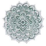 "Mandala ceramic wall art #2/R - Aqua [28cm/11""]"
