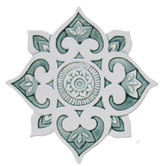 "Mandala ceramic wall art #3/R - Aqua [28cm/11""]"
