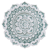 "Mandalita ceramic wall art deco/R - Aqua [28cm/11""]"