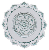 """Mandalita ceramic wall art liso/R - Aqua [28cm/11""""]"""