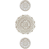 Ceramic wall art circles SET3 Beige Mandalita D