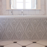 Handmade tiles diamond bathroom #3