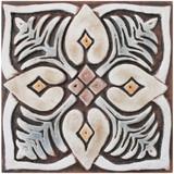 These handmade tiles make wonderful wall hangings and outdoor wall art.  Matt brown decorative tile handmade in Spain.