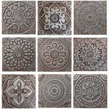 "Handmade Tiles Set9 silver [30cm/11.8""]"