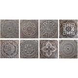 "Handmade Tiles Set8 silver [30cm/11.8""]"