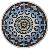 These circular handmade tiles make unique wall hangings for kitchens, bathrooms or outdoor wall art. Our decorative tiles can also be combined with our other circular tiles to make larger wall art installations.