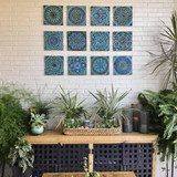 Our handmade tiles make unique outdoor wall art for your garden or patio walls. Our decorative tiles are handmade in Spain.