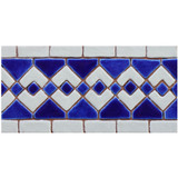 Handmade tiles for kitchens and bathrooms.  Decorative border tiles handmade in Spain