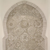 Ceramic mosaic tiles tiles for kitchens, bathrooms and outdoor wall art.  Spanish tiles, handmade in Spain.