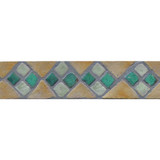 Decorative ceramic border for framing tiles.  Handmade tiles for kitchens and bathrooms.