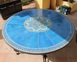 Handmade tile mosaic tabletop 7