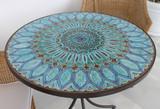 Handmade tile mosaic tabletop 11