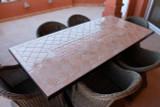 Handmade tile mosaic tabletop nilo