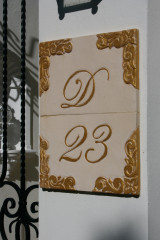 Ceramic house sign, custom made number plaque