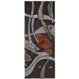 Ceramic wall art made with Handmade tiles.  Carved relief tile for outdoor wall art or indoor wall hanging.  Spanish tile wall decor.